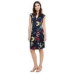 Phase Eight - Blue mila floral print dress