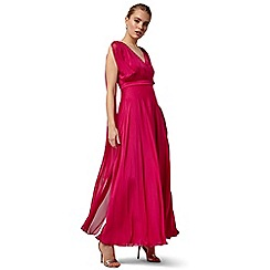 Phase Eight - Pink arwen silk drape dress