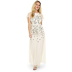 Phase Eight - Ivory multi colette embroidered maxi dress