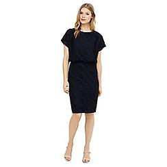 Phase Eight - Blue temple textured blouson dress