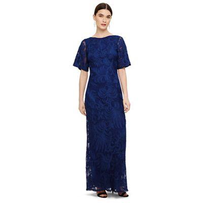 956ebadfbe300 Phase Eight Blue cecily tapework dress   Debenhams