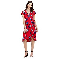Phase Eight - Red idella tulip print dress