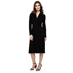 Phase Eight - Black pauline pleated wrap dress