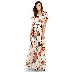 Phase Eight - Cream candelia print maxi dress