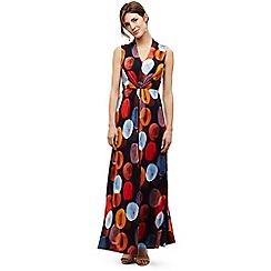 Phase Eight - Blue josefina spot maxi dress