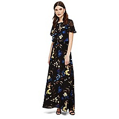 Phase Eight - Black manoela floral maxi dress