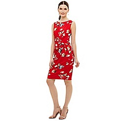 Phase Eight - Red berdina printed dress