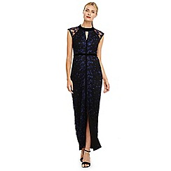 Phase Eight - Blue elly embroidered dress