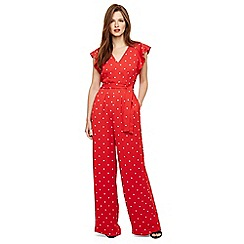 Phase Eight - Orange dotty jumpsuit