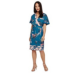 Phase Eight - Blue Dianah floral print dress