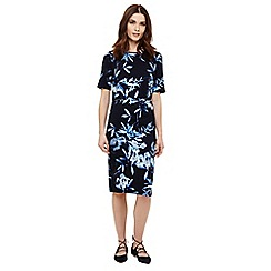 Phase Eight - Navy mira fern print dress