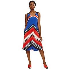 Phase Eight - Blue cersi chevron stripe dress