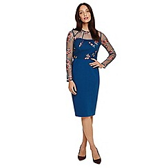 Phase Eight - Blue felice embroidered dress