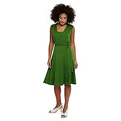 Phase Eight - Green wendelin wrap bodice dress