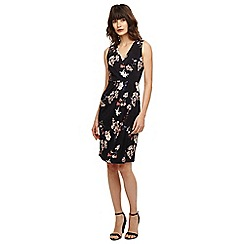 Phase Eight - Navy and pink fiona floral slinky jersey dress