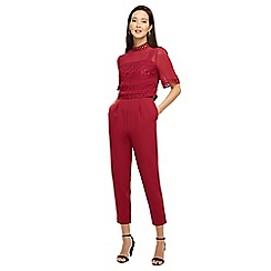 Phase Eight - Bright lipstick 'Ilia' lace bodice jumpsuit