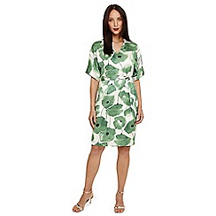 Phase Eight - Green dee floral dress