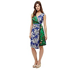 Phase Eight - Blue meghan patchwork scarf dress