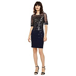 Phase Eight - Navy orlena ombre sequin knit dress