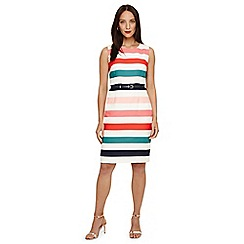 Phase Eight - Multi-coloured faye striped dress