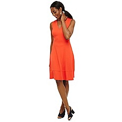 Phase Eight - Orange panya panelled dress