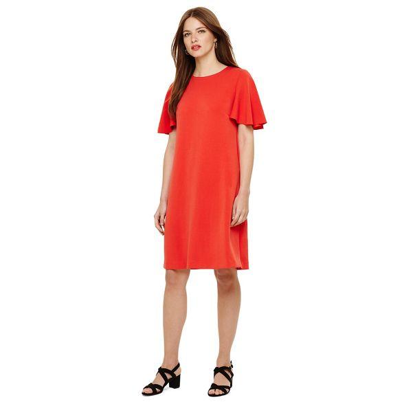 ponte Eight dress Red sari sueded Phase IxF78wqw