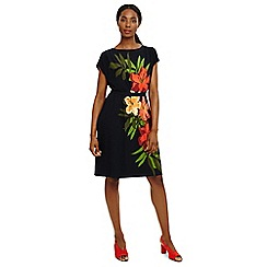 Phase Eight - Blue francisco placement print dress