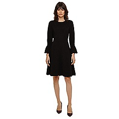 Phase Eight - Black raya ribbed swing dress