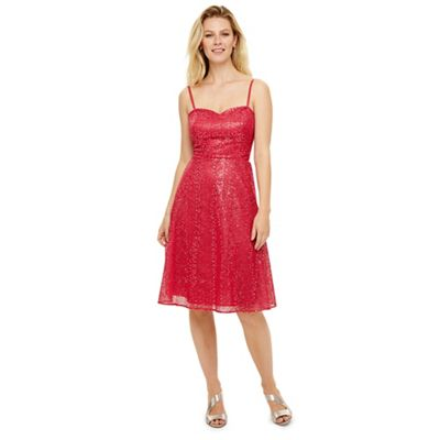 Phase Eight   Red Annis Sequin Bridesmaid Dress by Phase Eight