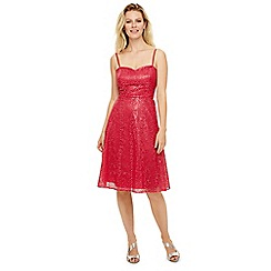 Phase Eight - Red annis sequin bridesmaid dress