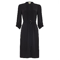 Phase Eight - Charcoal cadee cupro shirt dress