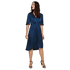 Phase Eight - Blue rosina fluted knot midi dress