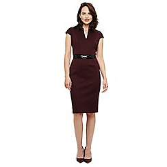 Phase Eight - Wine red abby belted scuba dress