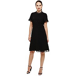 Phase Eight - Black ivanna guipure lace dress