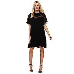 Phase Eight - Black jaycee lace swing dress