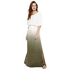 Phase Eight - White dip dye maxi dress
