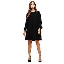 Phase Eight - Black chelsie button shoulder dress