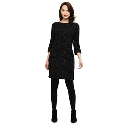 Phase Eight   Black Freyda Fleck Tunic Dress by Phase Eight