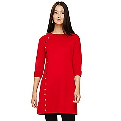 Phase Eight - Red bellatrix button knitted dress