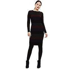 Phase Eight - Red sigrid rib stripe knit dress