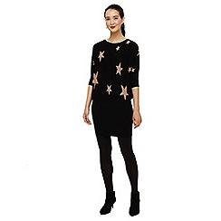 a2c188b3 Phase Eight - Black and camel becca star jacquard knit dress