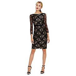 Phase Eight - Black jules lace dress with sleeves