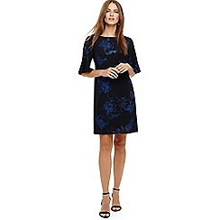 Phase Eight - Cobalt and black flynn floral jacquard tunic dress