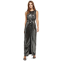 Phase Eight - Silver dahlia shimmer twist maxi dress