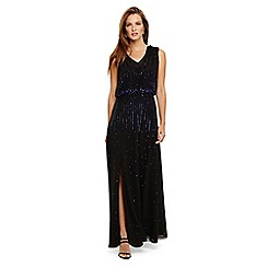 Phase Eight - Black mia placement sequin dress
