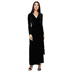 Phase Eight - Black valeria velvet wrap maxi dress