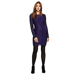 Phase Eight - Purple juana sequin shift knit dress