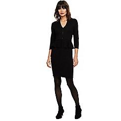 Phase Eight - Black zuria peplum knitted dress