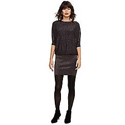 Phase Eight - Black becca rainbow shimmer knit dress
