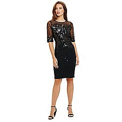 Phase Eight - Green orlena oval sequin knitted dress